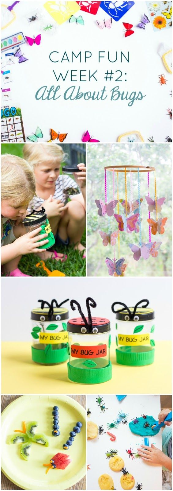 "Camp Fun ""All About Bugs"" - lots of bug activities for kids summer camp at home!"