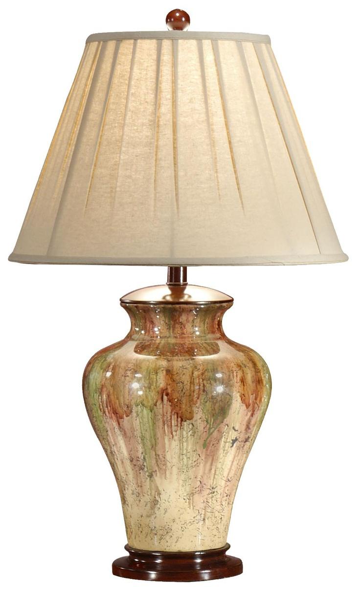 Wildwood Drop Down Colors Handpainted Porcelain Table Lamp