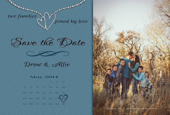 Blended Family Wedding Invitations: Blended Family Save The Date Announcement By