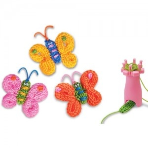 French Knitting Butterfly - no tutorial or link but cute idea.