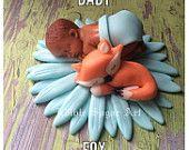 ARBOLADO FOX Baby Shower ciervos primero de la torta pasta de azúcar de la torta del bebé del camo de la caza de camuflaje de color rosa
