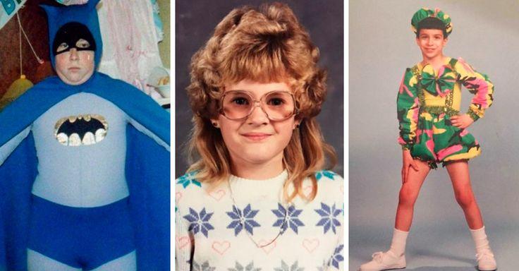 Personas subieron las fotos más vergonzosas de su infancia y pubertad utilizando horrendos cortes de cabello, disfraces graciosos o estilos mal combinados