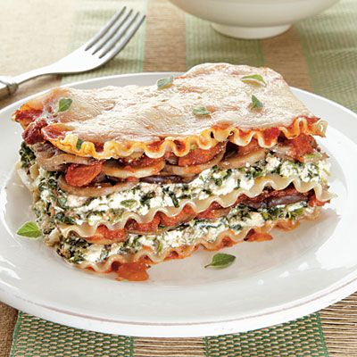 Use brown rice/whole grain lasagna...substitute all cheese for vegan , dairy free cheese