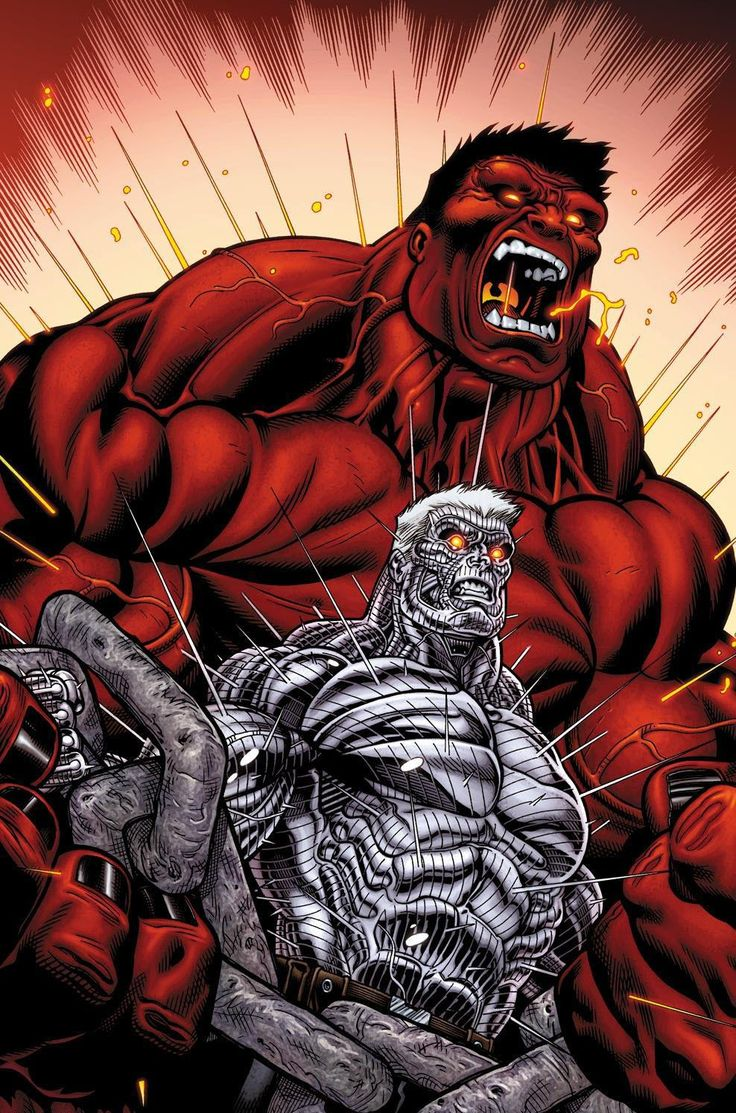 Cable vs rulk by ed mcguinness marvel pinterest - Pictures of red hulk ...