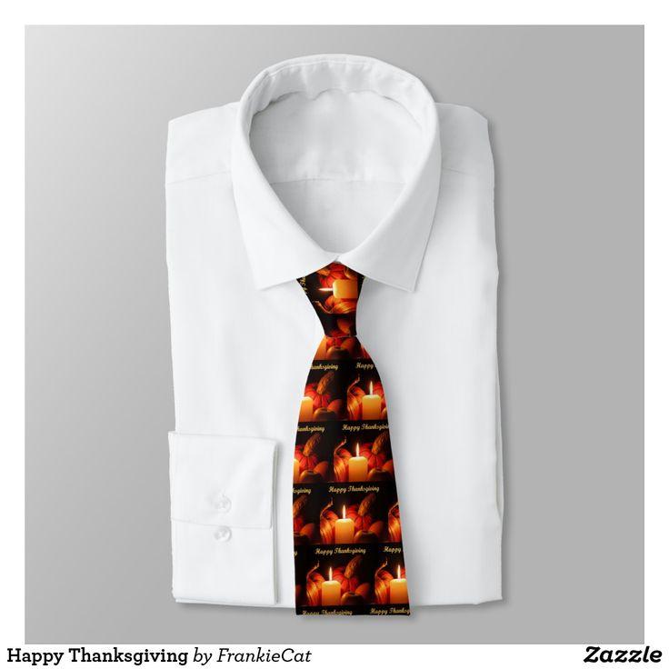 Happy Thanksgiving Neck Tie