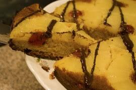 Chocolate glazed Pineapple Upside-down cake