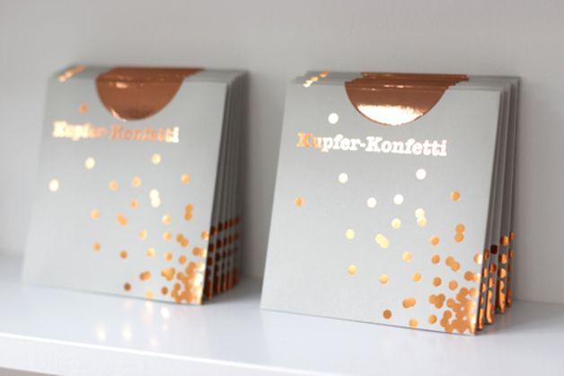 德國銅紙壁貼 Wanddeko - Kupfer-Konfetti 30er Set - ein Designerstück von Steffi-von-www-ohhhmhhh-de bei DaWanda