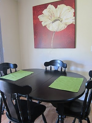 Diy refinishing dining room table and chairs my first for Refinishing dining room chairs