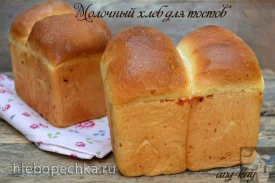 Молочный хлеб для тостов (кухонный процессор Bomann KM 398 CB) Молочный хлеб для тостов (кухонный процессор Bomann KM 398 CB)