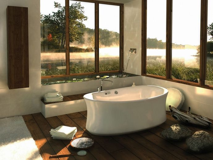 40 Amazing Bathroom Designs That Fused with Nature   http://www.designrulz.com/design/2013/04/amazing-bathroom-designs-that-fused-with-nature/