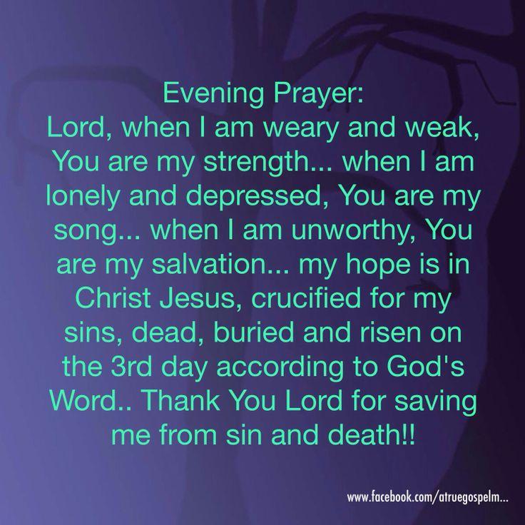 Evening Prayer Through Faith In Jesus I Am Saved From Sin
