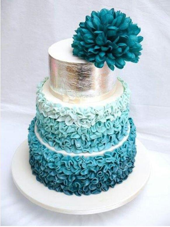 Preston Bailey, Preston Bailey Bride Ideas Blog, Bride Ideas, wedding cakes, wedding, weddings, teal wedding cake, silver wedding cake, text...