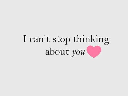I Can't Stop Thinking About You