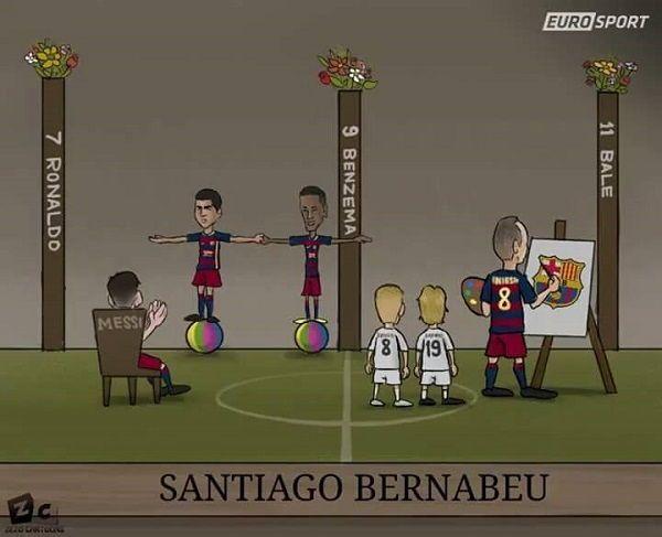 Tak wyglądało wczorajsze Gran Derbi • Real Madryt vs FC Barcelona • El Clasico na jednym zdjęciu • Neumar i Suarez robią sztuczki >> #barca #barcelona #fcbarcelona #football #soccer #sports #pilkanozna
