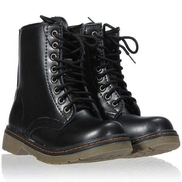 Nuevo Mujeres Chica Punk Tobillo Cargadores Martin Botas Altos Zapatos Cordones | eBay