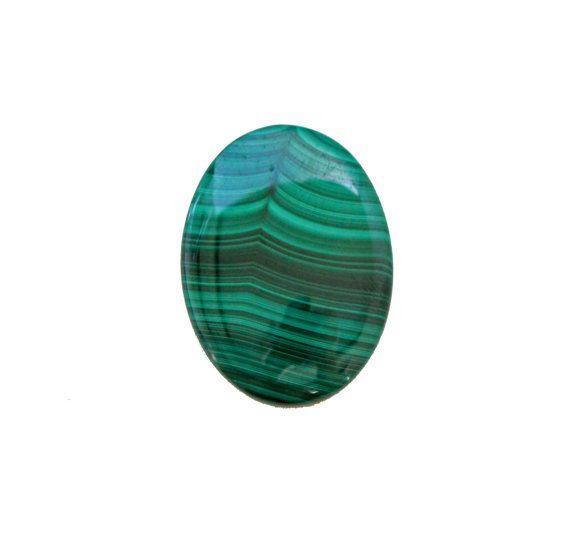 Malachite oval cabochon 86.10 carat by SARAHHUGHESfinegems on Etsy