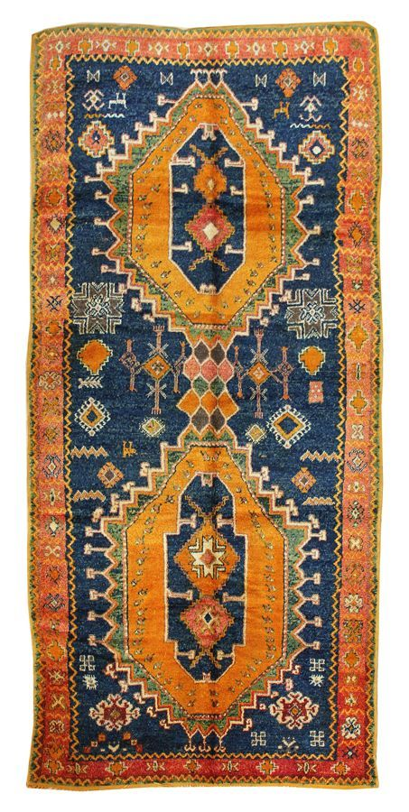 Moroccan Design Rugs: High Atlas Mountain Rug, Hand-knotted in Morocco; size: 4…