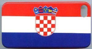National Flag Europe Adriatic Sea Country Republic of Croatia for iPhone 4 / 4s Plastic Hard Case Normal Style