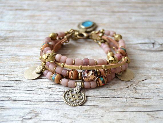 Boheemse armband beaded boho yoga armband hippie zigeuner