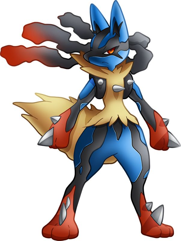 My version of the pokemon mega lucario pokemon mega lucario