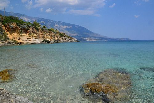 Deep blue see in Greece, Kefalonia