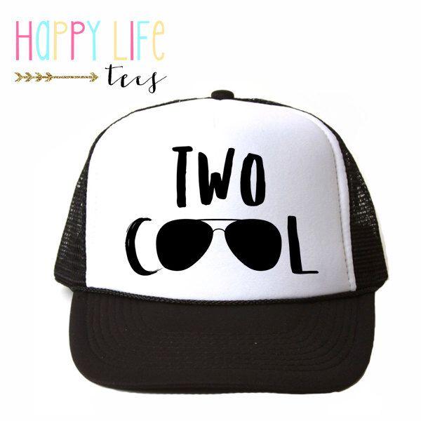 KIDS Trucker Hat - Birthday Hat - Kids Hat - Baby Trucker Hat - Two Cool - Trucker Hat - Cool kids hat - Christmas Gift - Baby Trucker Hat by ShopHappyLifeTees on Etsy https://www.etsy.com/listing/387026556/kids-trucker-hat-birthday-hat-kids-hat