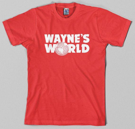 Wayne's World T Shirt waynes logo snl movie by TheGoreKitten