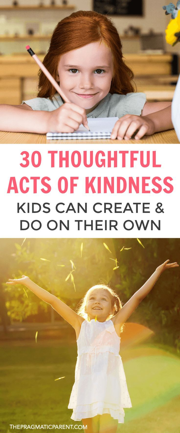 Raising Kind Children >> 30 Acts Of Kindness Kids Can Create Do On Their Own Activity