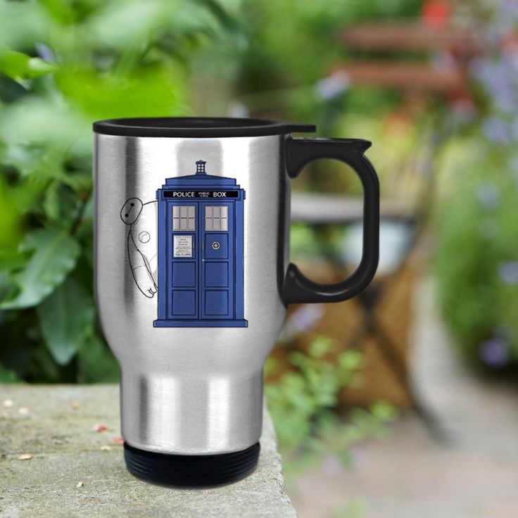 Tardis Dr Who Stainless Steel Travel Mug