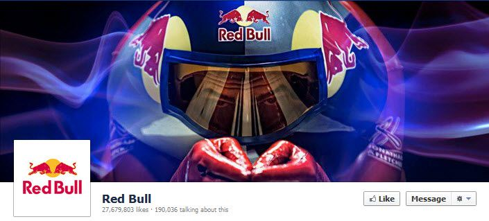 great Facebook cover photos: Red Bull