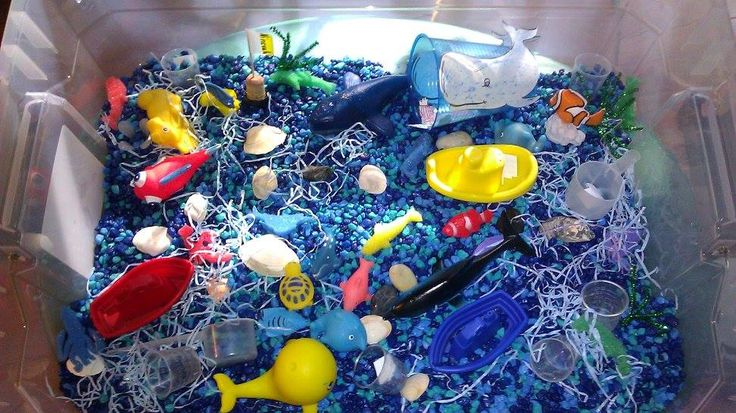 Jonah and the Whale Bible Story Sensory Bin     - Hide Scripture verses for kids to find and then re-enact story of Jonah