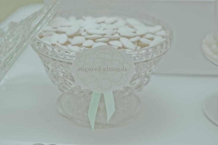 Traditional sugared almonds