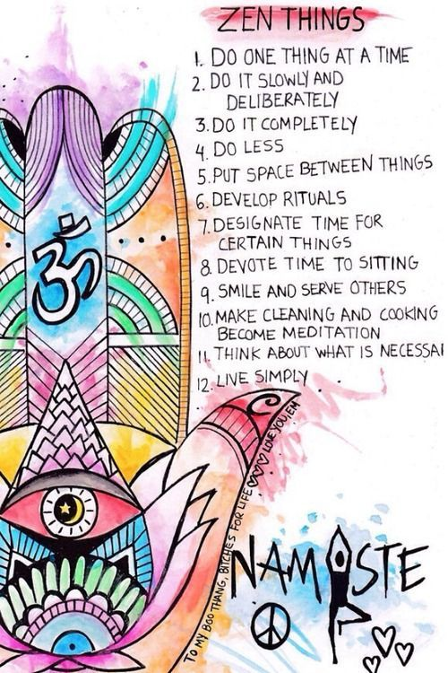 Part of your wheel of Mental & Physical wellbeing - The spiritual side - mindfulness, yoga, meditation - 10 Zen tips
