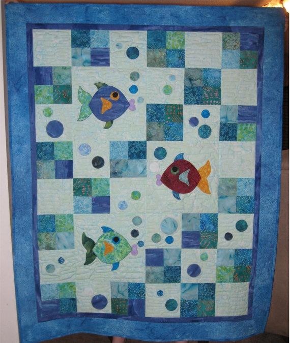 Fish Pattern Fish Quilt Ideas Pinterest Batik Quilts