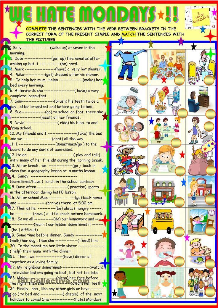 116 best Verbs images on Pinterest  English grammar English