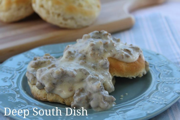 Delicious milk-based sausage gravy, sometimes called sawmill gravy, is a southern favorite. Serve this delectable goodness over some hot homemade buttermilk biscuits for a little piece of heaven.