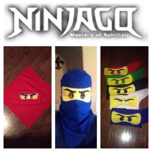 1 *New* LEGO Costume MASK NINJAGO Red Green Blue Black White Purple Pink Brown
