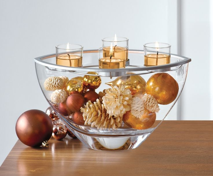 Enjoy the glow and keep it low! Tips for holiday centerpieces using candles.