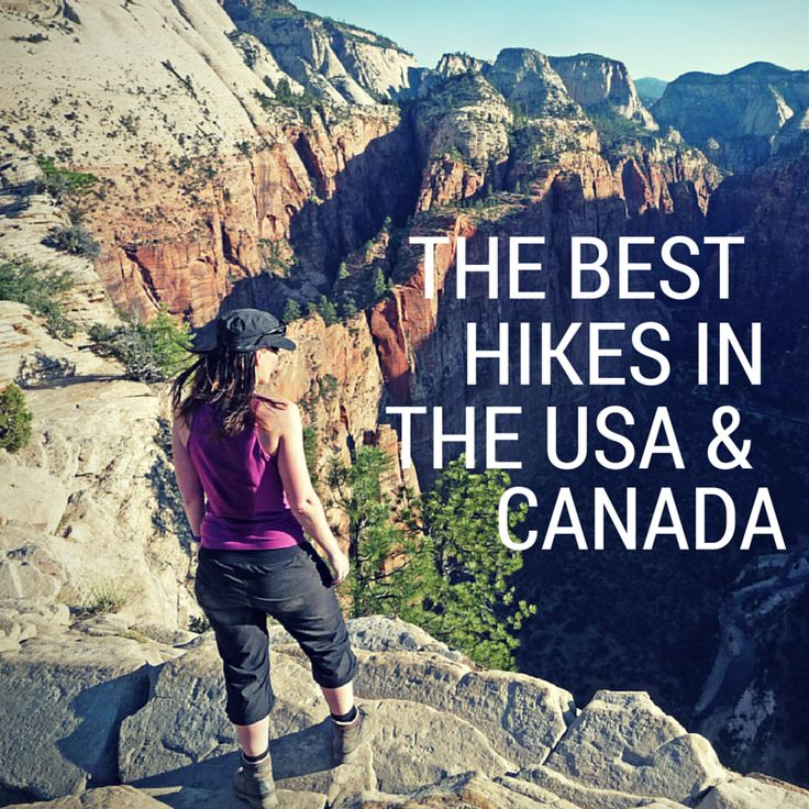 Top 10 (half) day hikes in the United States and Canada!