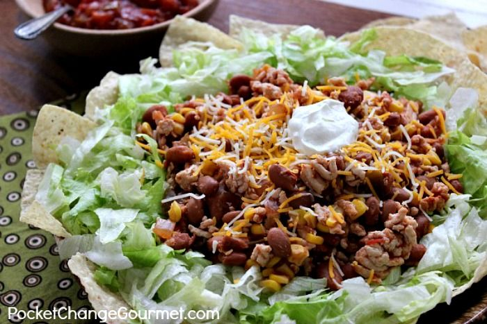 Get in my belly! A Taco Salad without the calories! | PocketChangeGourmet.com