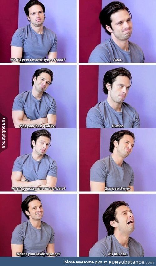 Why is he so cute? - when I realise Sebastian Stan is basically me  I love all of them lol