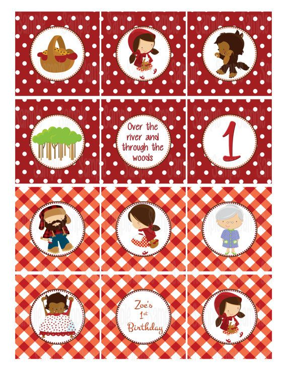Printable Little Red Riding Hood Cupcake by PartyInnovations09