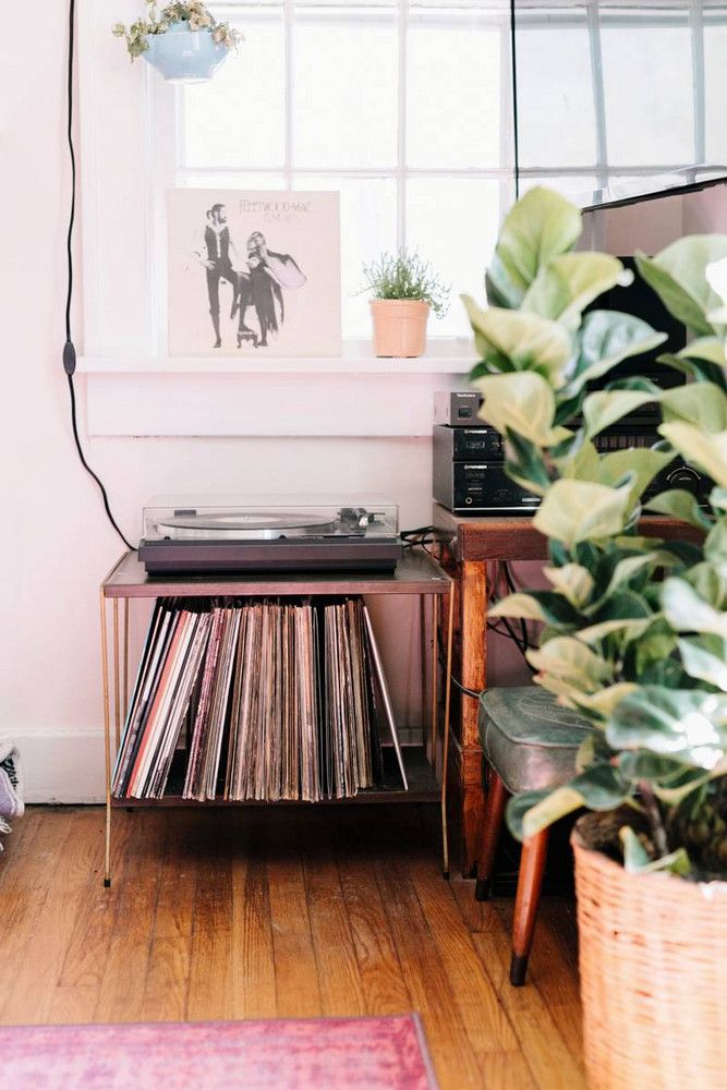 record player side table