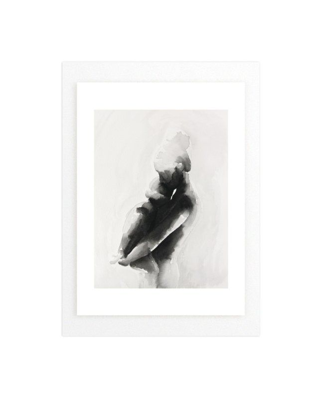 """mother embrace"" - Art Print by Kate Ahn in beautiful frame options and a variety of sizes."
