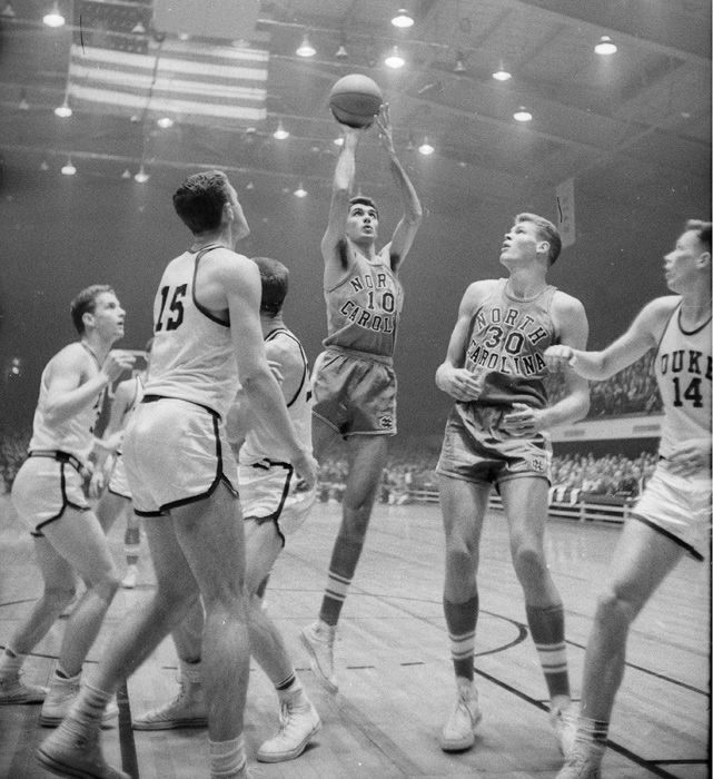 Lennie Rosenbluth vs. Duke in 1956 (SI photo)