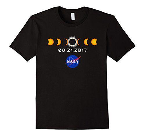 NASA Total Solar Eclipse August 21 2017 T-Shirt Male Large Black...