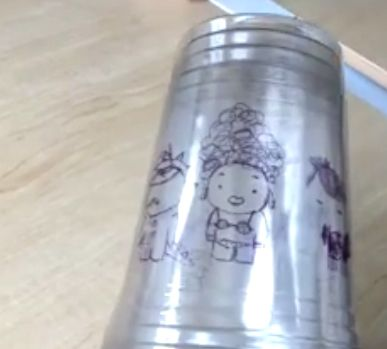 Cómo hacer una animación con vasos plásticos y rotulador indeleble ;) Ver vídeo: https://www.facebook.com/sashkodanylenkoart/videos/581409165350936/
