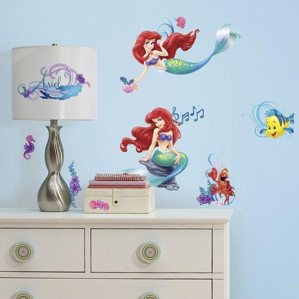 Disney Princess The Little Mermaid Ariel U0026 Flounder Decals