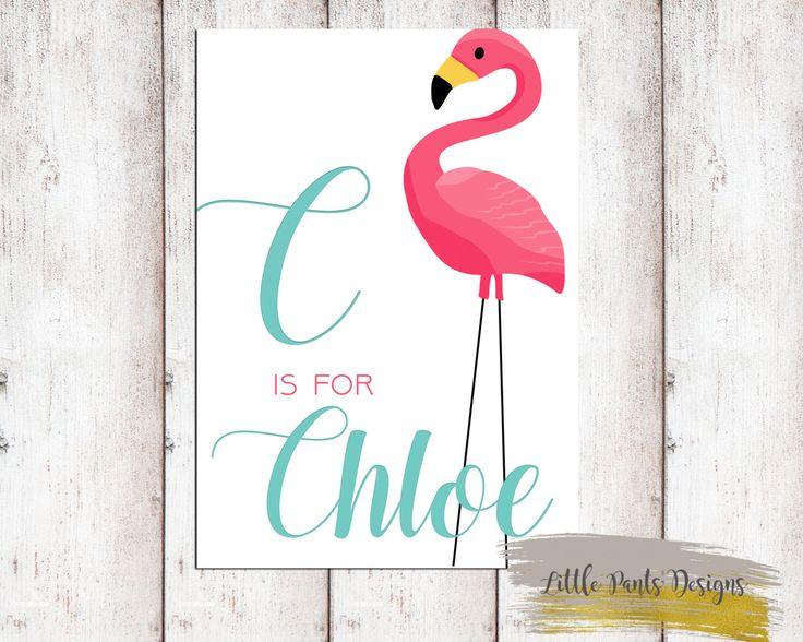 Flamingo Personalised Name Sign Poster Gold Glitter Aqua Pink Birth Poster Announcement Card Little Girl  Whimsical Custom Invite Tropical by LittlePantsDesigns on Etsy https://www.etsy.com/listing/463049637/flamingo-personalised-name-sign-poster