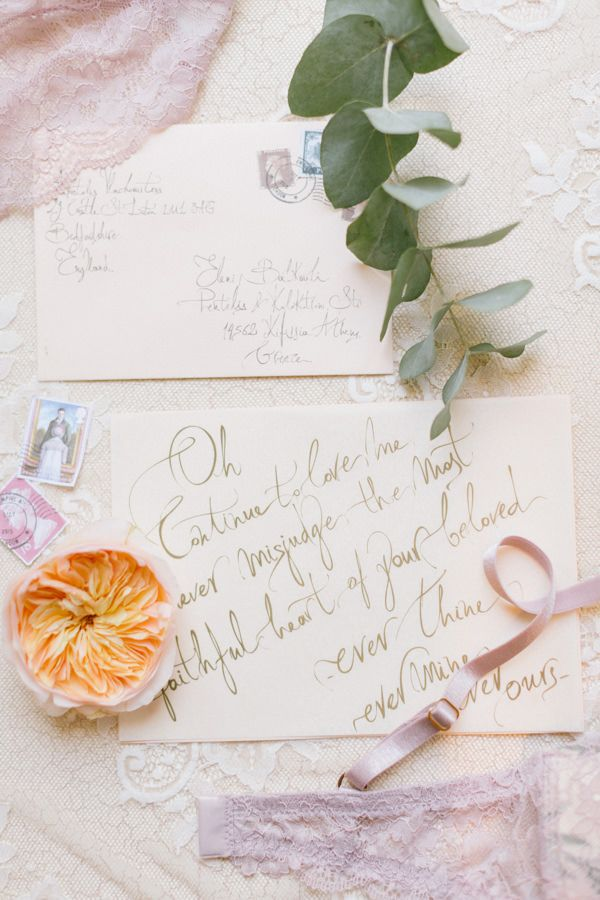 The art of calligraphy for your special love note by Chirography www.mazi-chirography.com Photography by ANNA ROUSSOS
